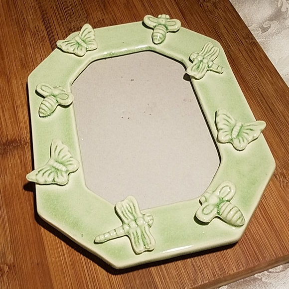 Other - Butterfly Dragonfly and Bee Green Ceramic Frame
